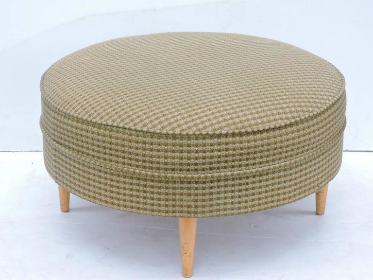 Brilliant Mid 20Th Century Big Round Ottoman Pouf Machost Co Dining Chair Design Ideas Machostcouk