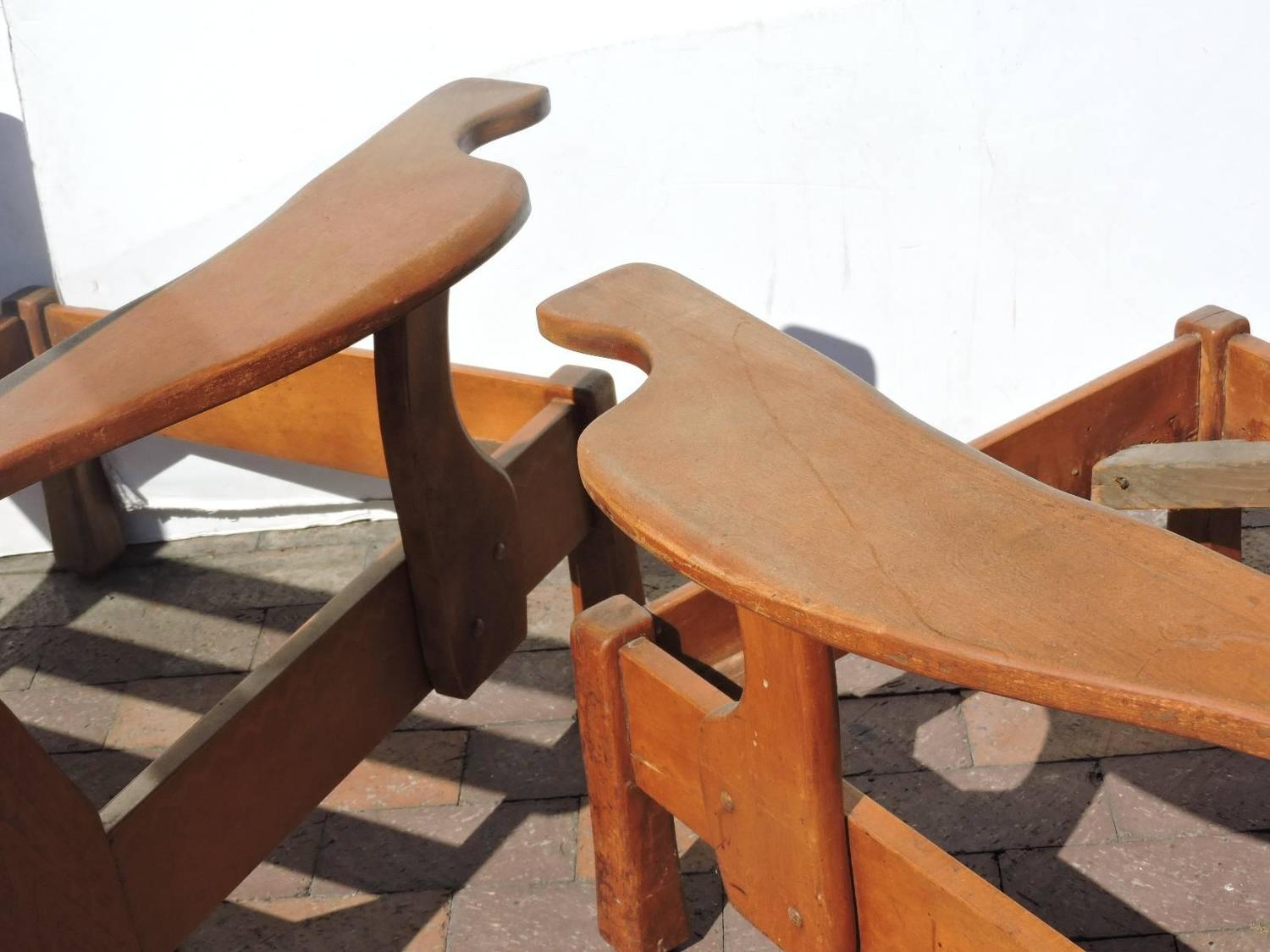 1940 S Rustic Modern Paddle Arm Chairs For Sale At 1stdibs