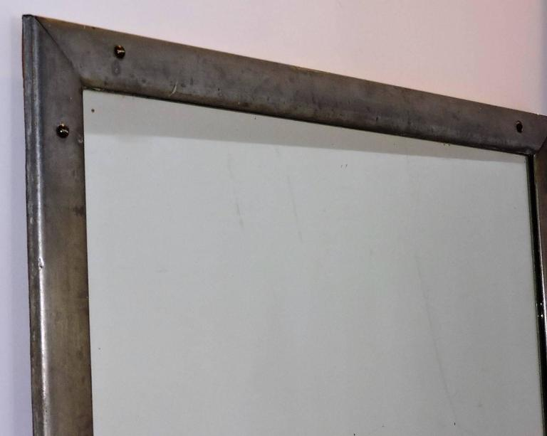 American Antique Industrial Aluminum Mirror For Sale
