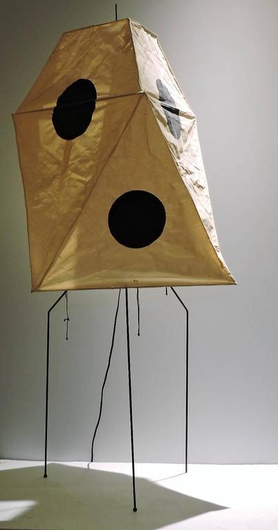 Noguchi Akari Floor Lamp Light Sculpture Uf3 Q At 1stdibs