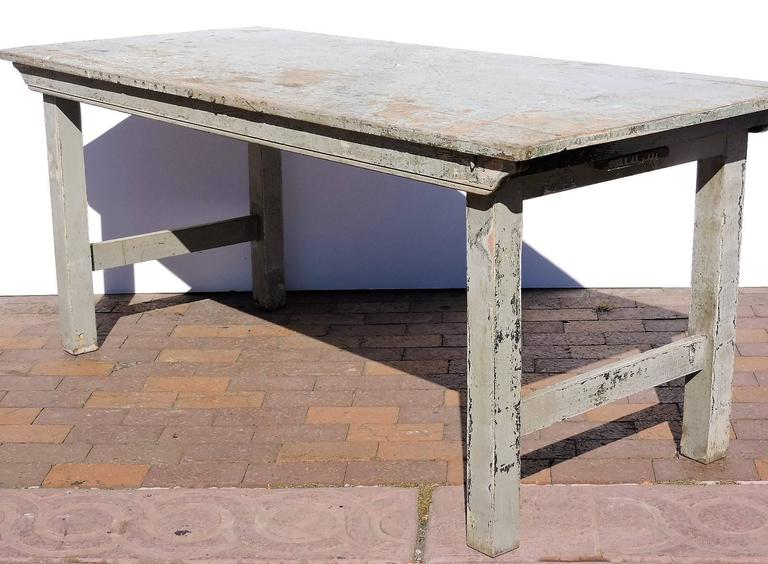 Antique Folding Farm Table At 1stdibs