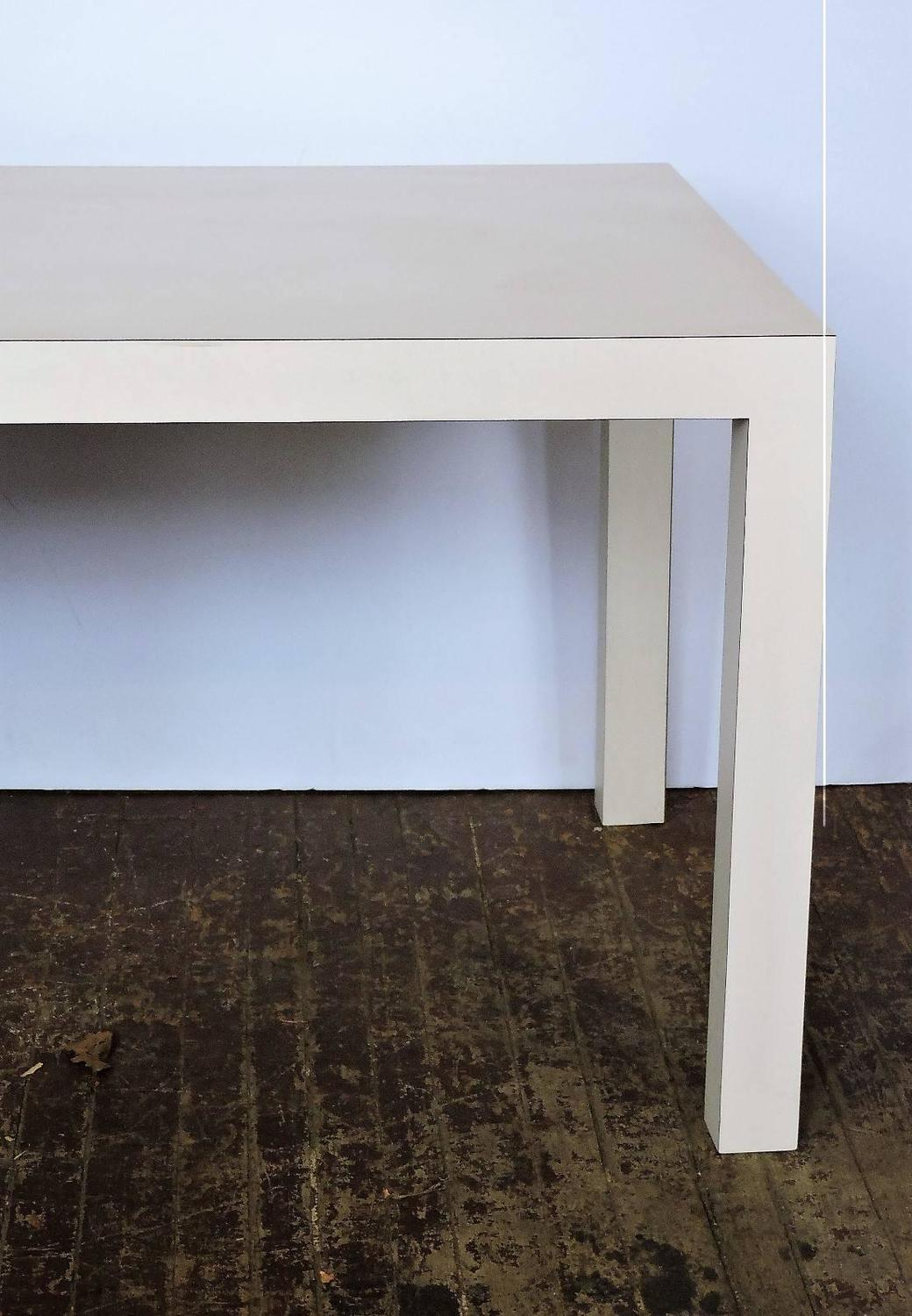 White Laminate Parsons Table In The Style Of Jean Michel
