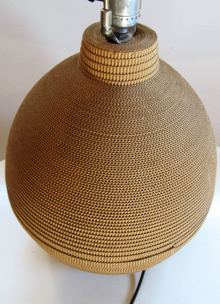 1970s Corrugated Cut Paper Table Lamp For Sale At 1stdibs