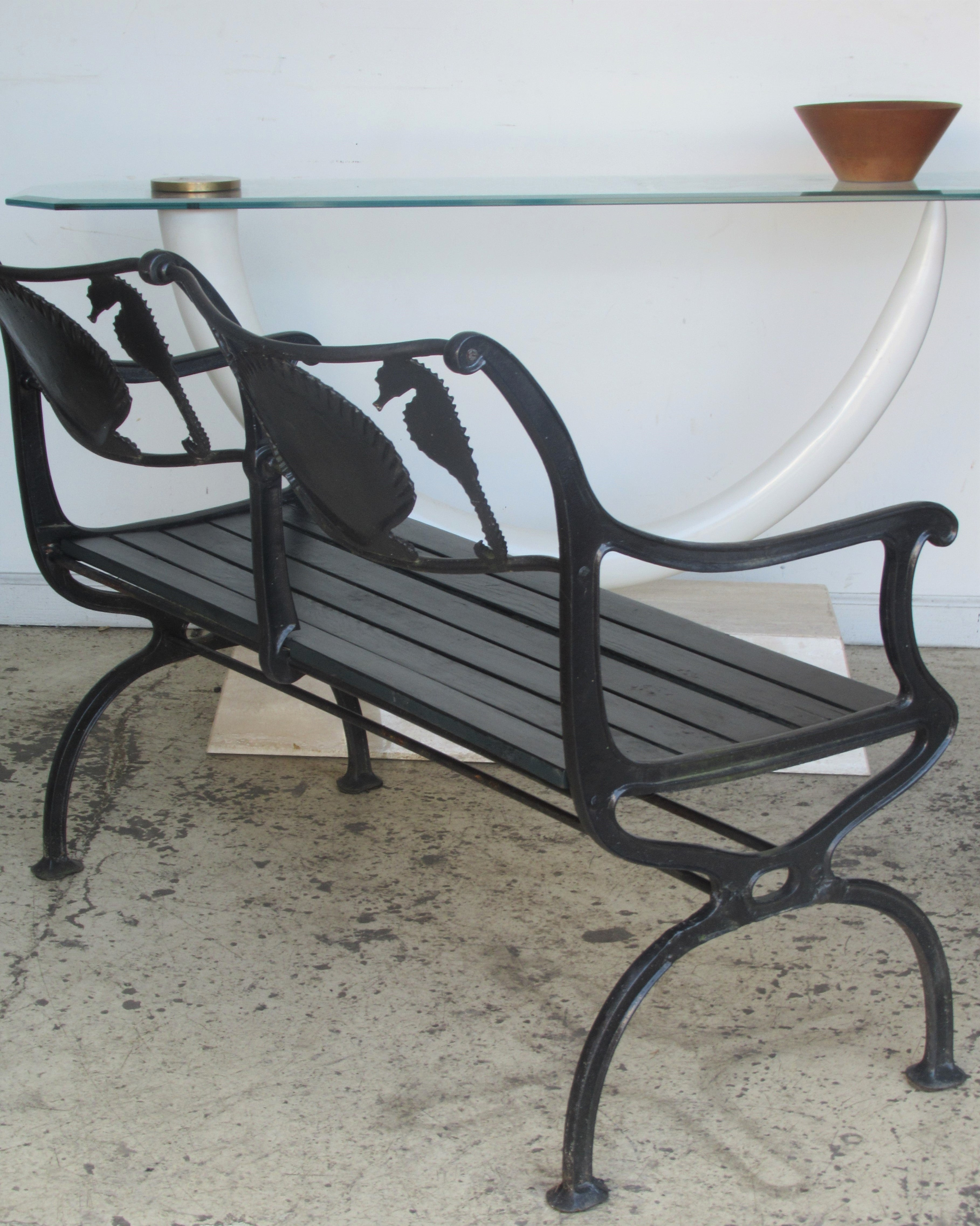 sale for org strap outdoor bench iron garden img furniture id forged f at building antique metal century