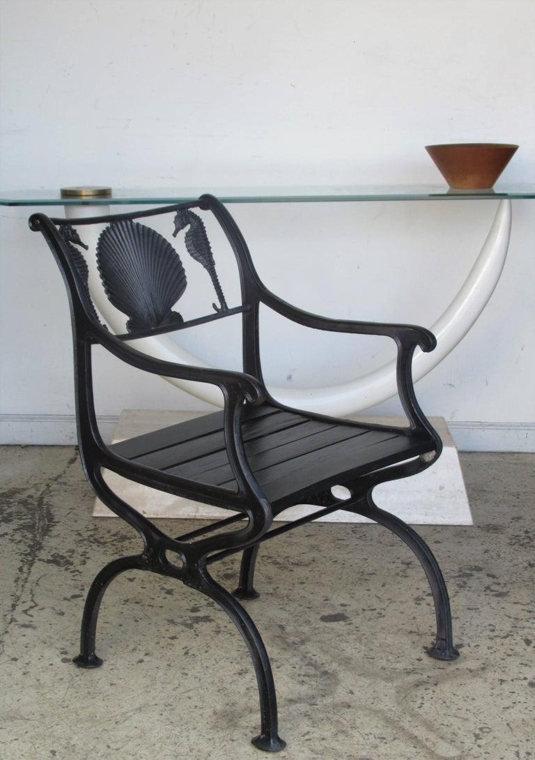 Cast Iron Scallop Shell And Seahorse Design Garden Benches