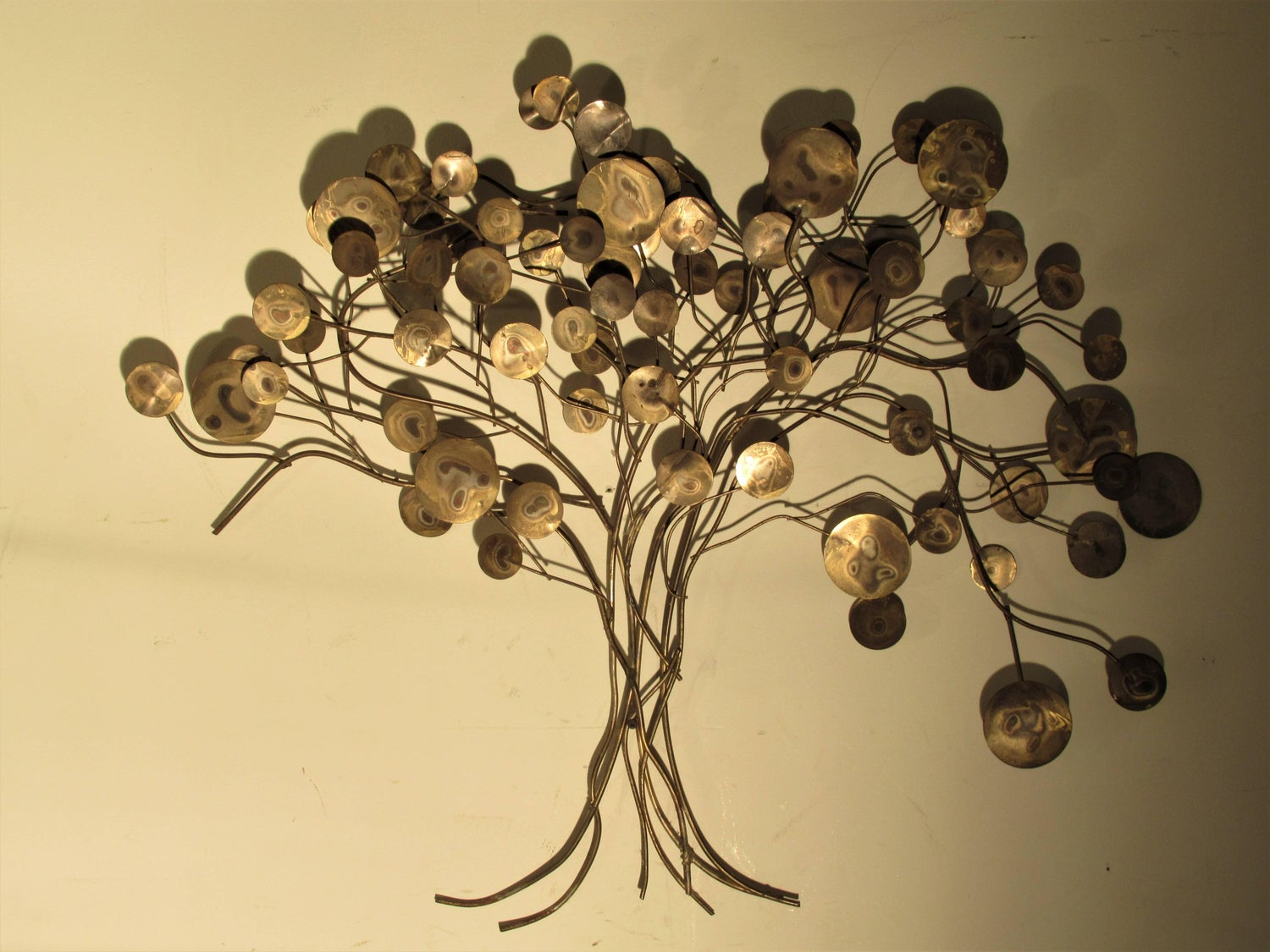 Raindrop Tree Wall Sculpture by C. Jere For Sale at 1stdibs