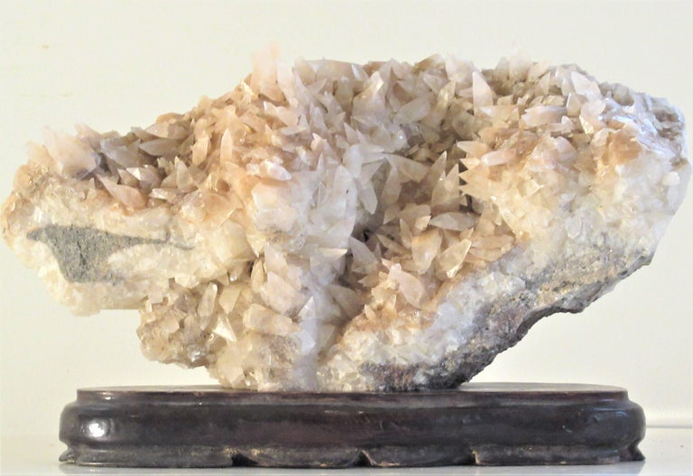 18th Century and Earlier Large Old Quartz Crystal Specimen For Sale