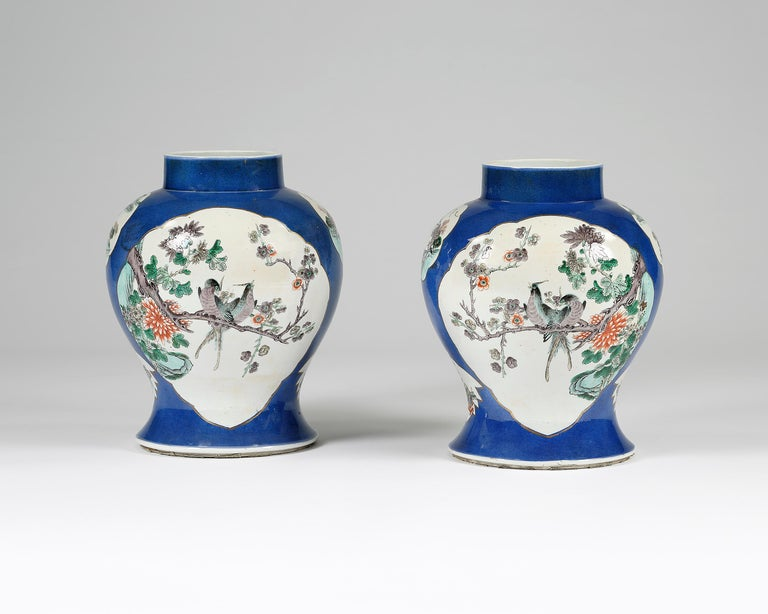 19th Century Pair Of Chinese Porcelain Vases With Lids For Sale At