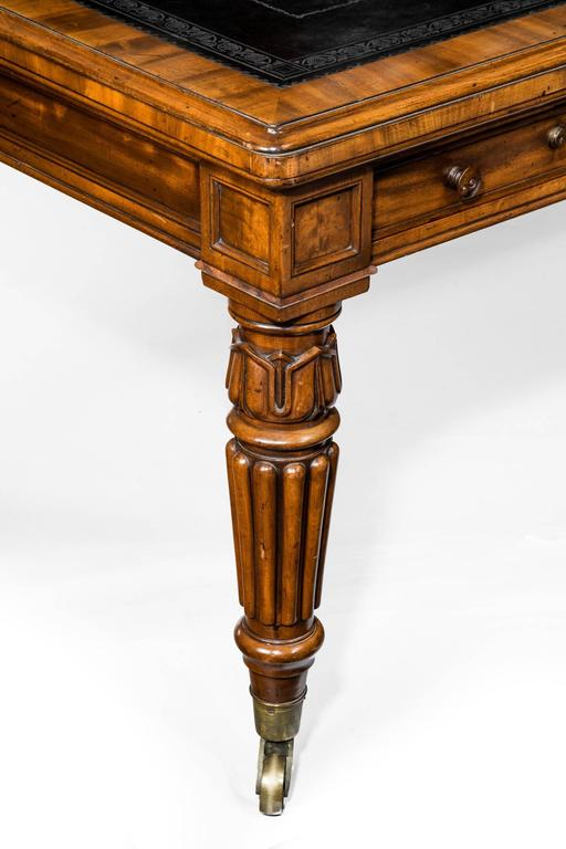 British 19th Century Large Mahogany Writing Desk For Sale