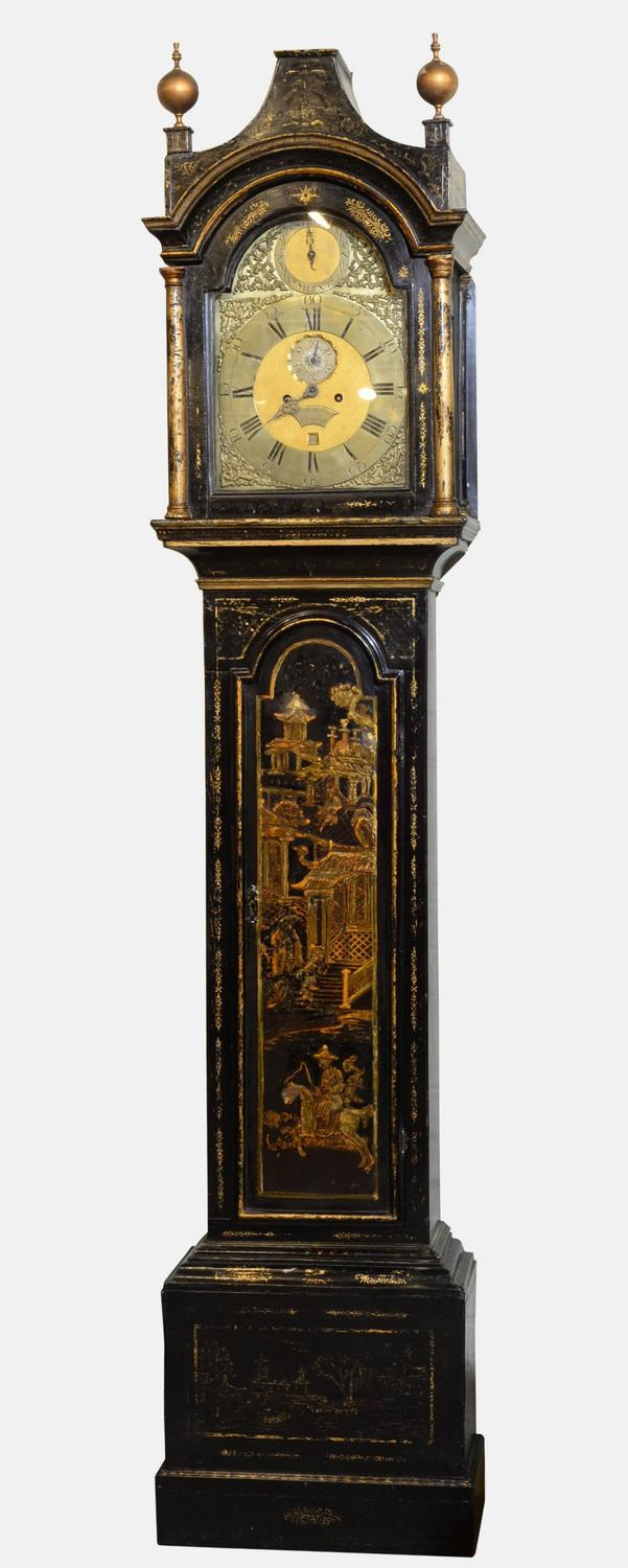 Lacquered eight day longcase clock for sale at 1stdibs - Wall mounted grandfather clock ...