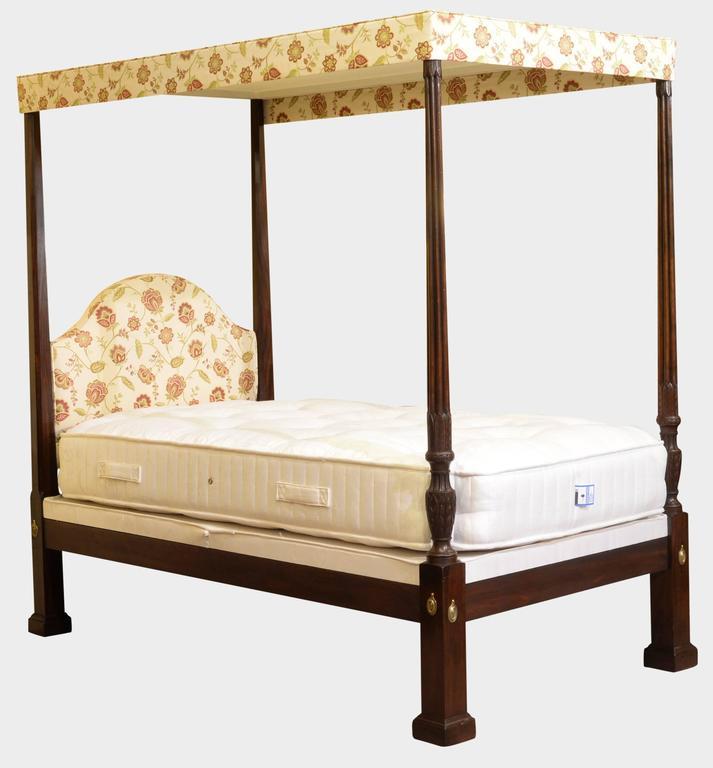 georgian four poster mahogany bed for sale at 1stdibs. Black Bedroom Furniture Sets. Home Design Ideas