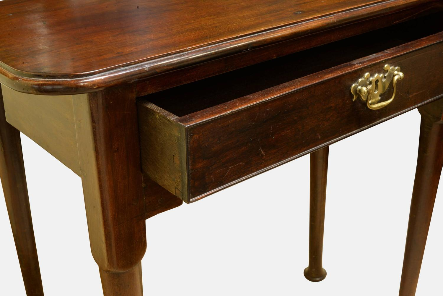 Oak Lined Red Walnut Gate Leg Table For Sale At 1stdibs