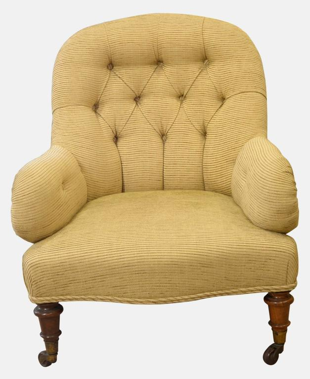 Victorian Deep Buttoned Back Armchair At 1stdibs