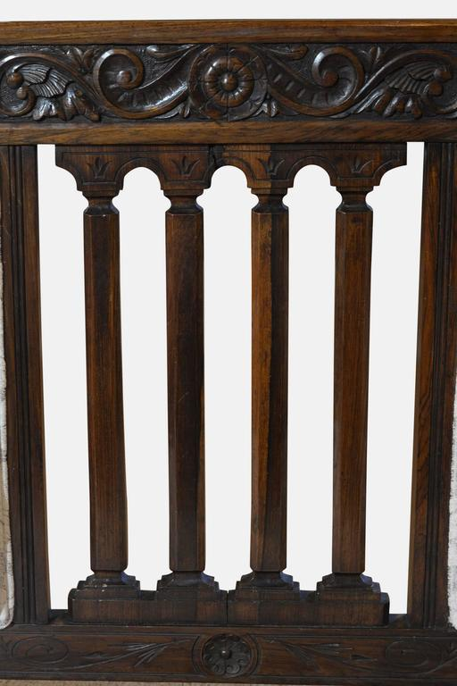 Victorian solid rosewood framed salon settee at 1stdibs for Solid salon