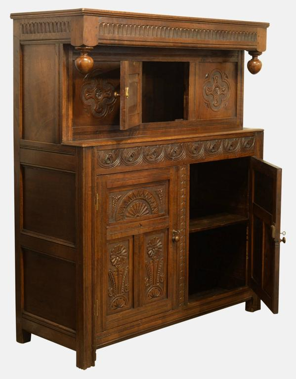 victorian oak court cabinet for sale at 1stdibs. Black Bedroom Furniture Sets. Home Design Ideas
