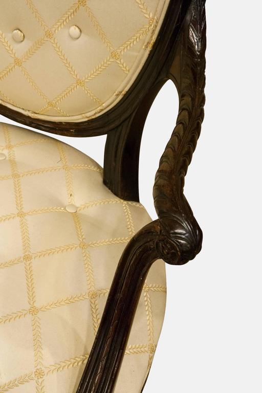 19th Century Mahogany Hepplewhite Elbow Chair For Sale