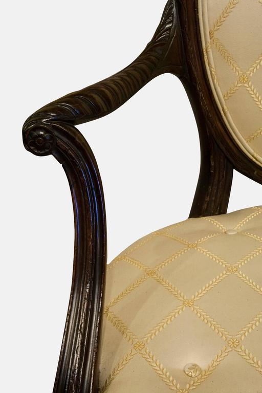 Mahogany Hepplewhite Elbow Chair For Sale 1