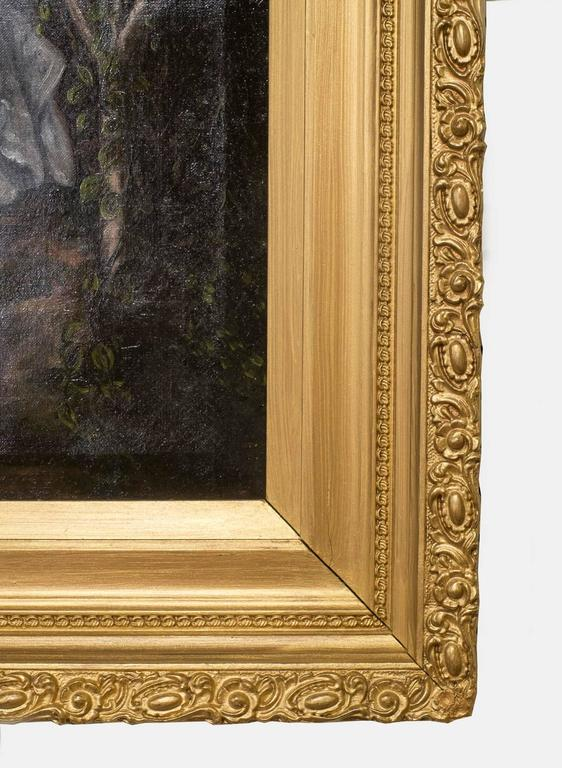 19th Century Oil Painting on Canvas For Sale