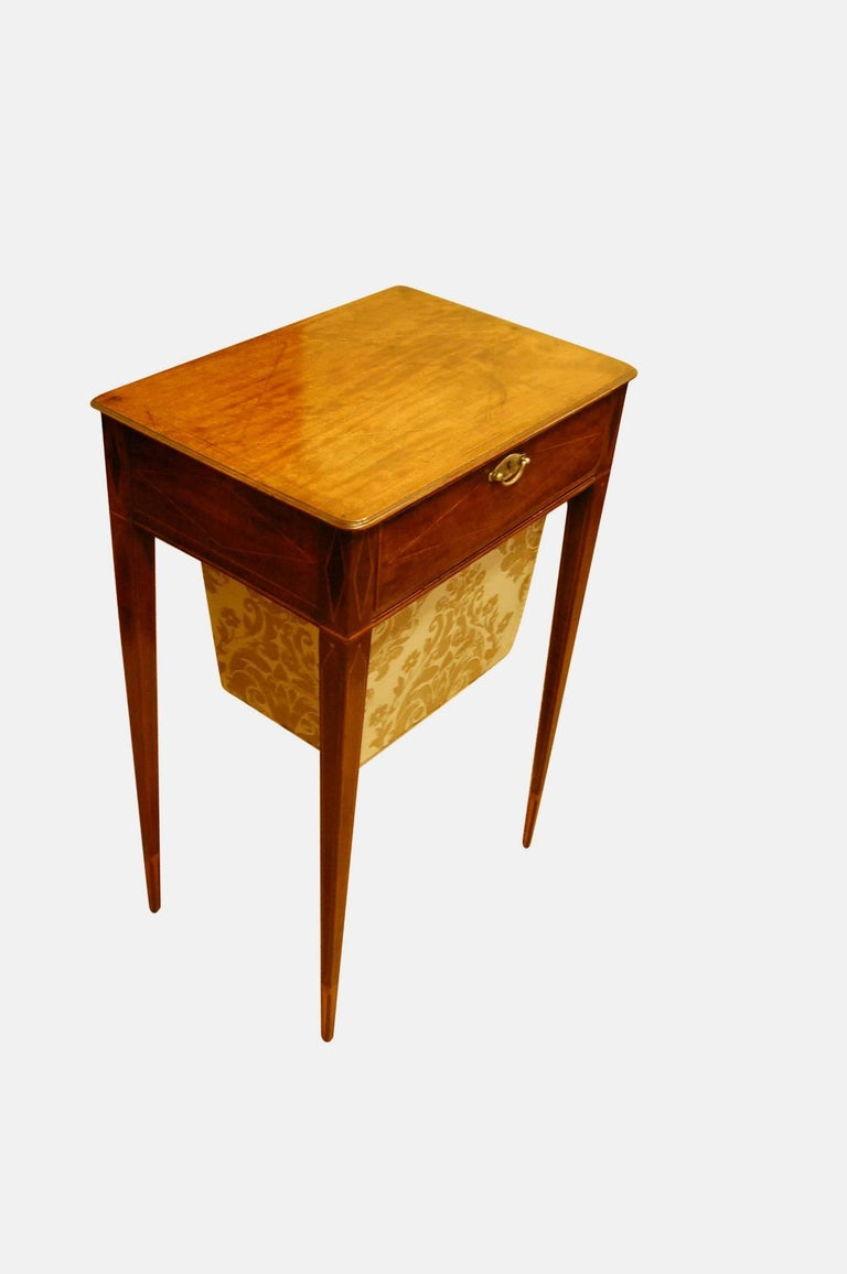 George III inlaid mahogany work table