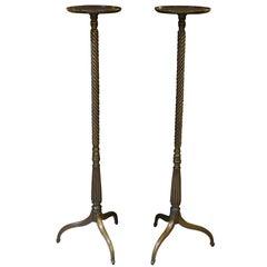 Fine Pair of Georgian Mahogany Torcheres