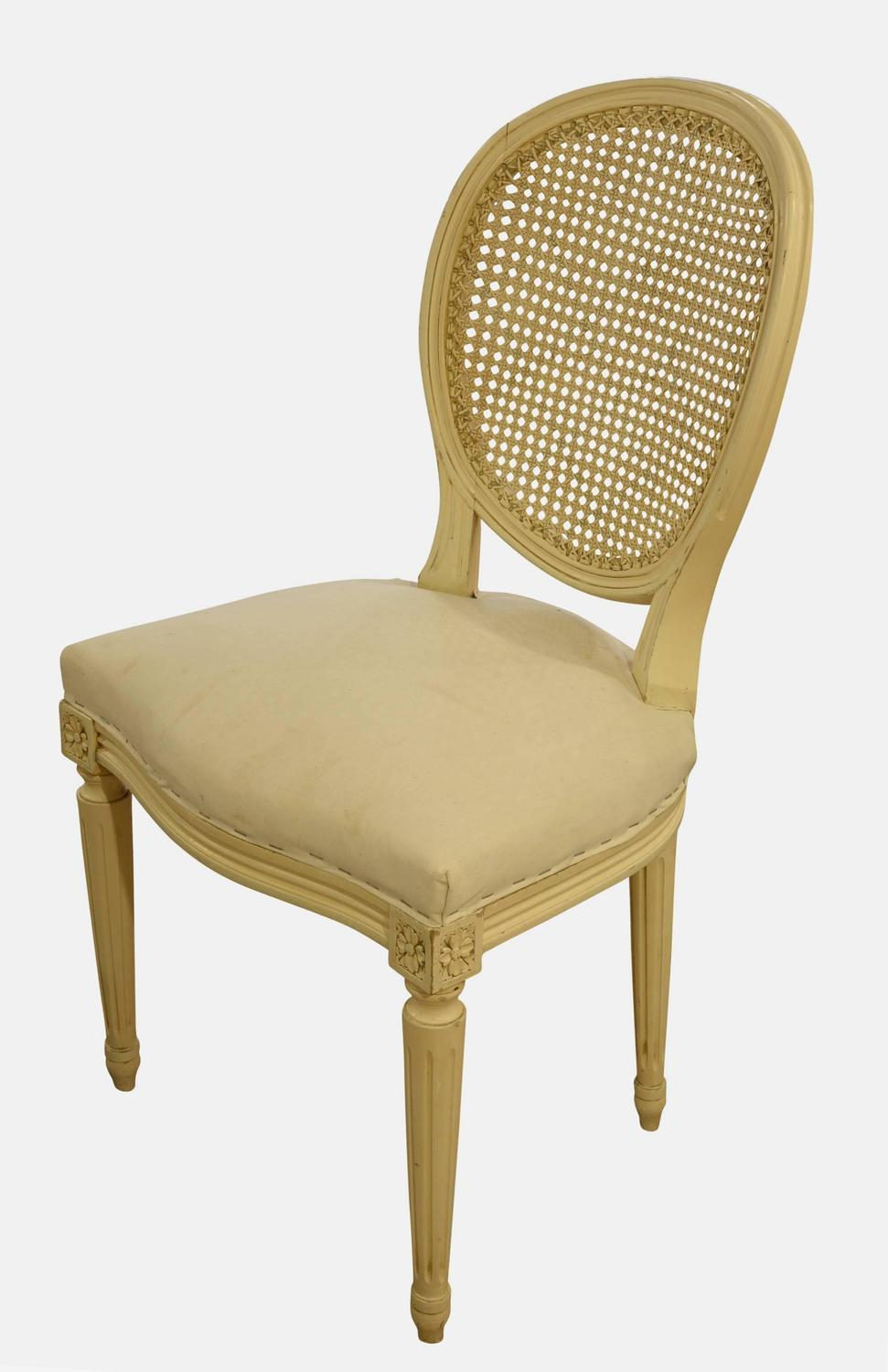 set of six cane back salon dining chairs at 1stdibs