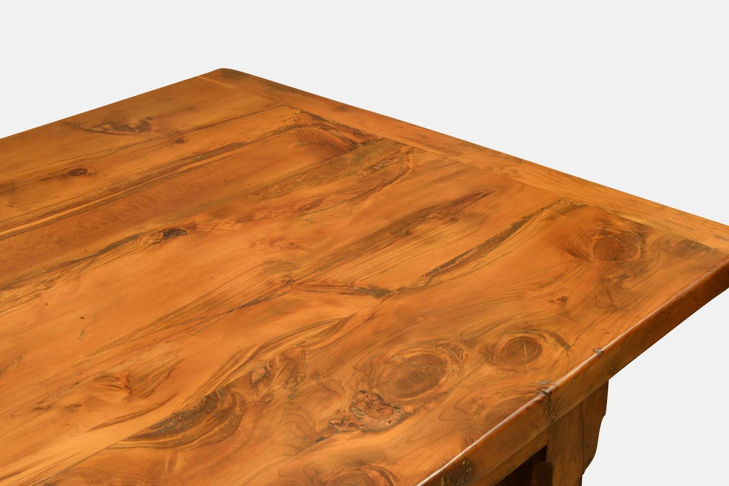 20th Century Yew Kitchen Or Dining Table For Sale At 1stdibs