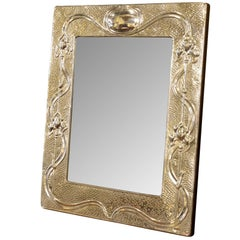 Art Nouveau Style Sterling Silver Picture Frame
