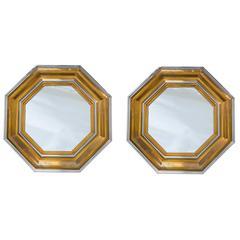 Pair of Octagonal Mirrors