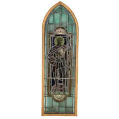 19th Century English Knight Stained Glass