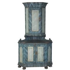 18th Century Swedish Painted Cabinet