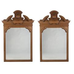 Pair of Carved Walnut Mirrors