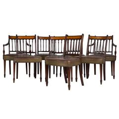 Set of Eight George III Dining Chairs
