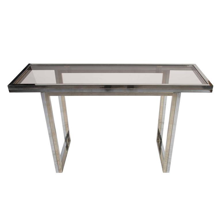 Bi-Coloured Metal Console Table
