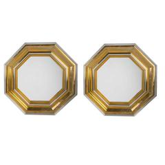 Pair of Octagonal Mirrors by Mercier Freres