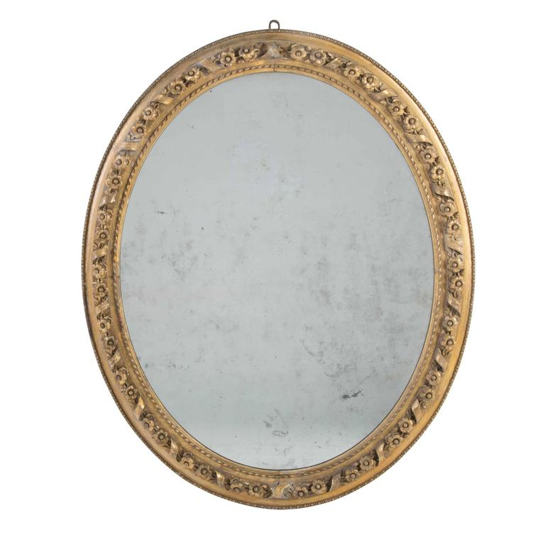 Oval Giltwood Mirror
