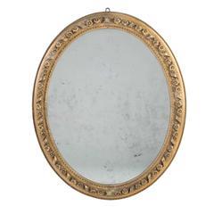 Oval Giltwood Mirror