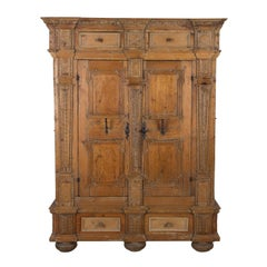 17th Century Architectural Armoire