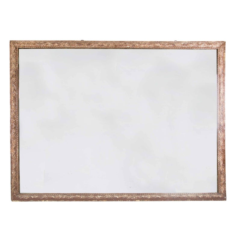 Very Large Painted Gesso Mirror