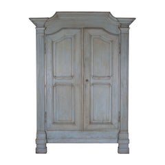 19th Century Painted Italian Armoire