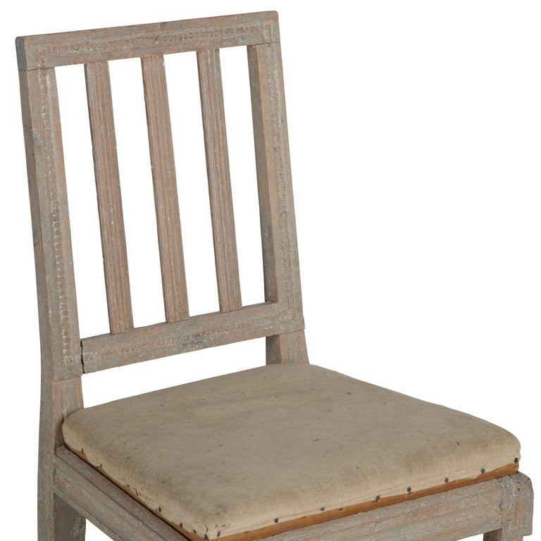 Four Painted Gustavian Dining Chairs For Sale 1
