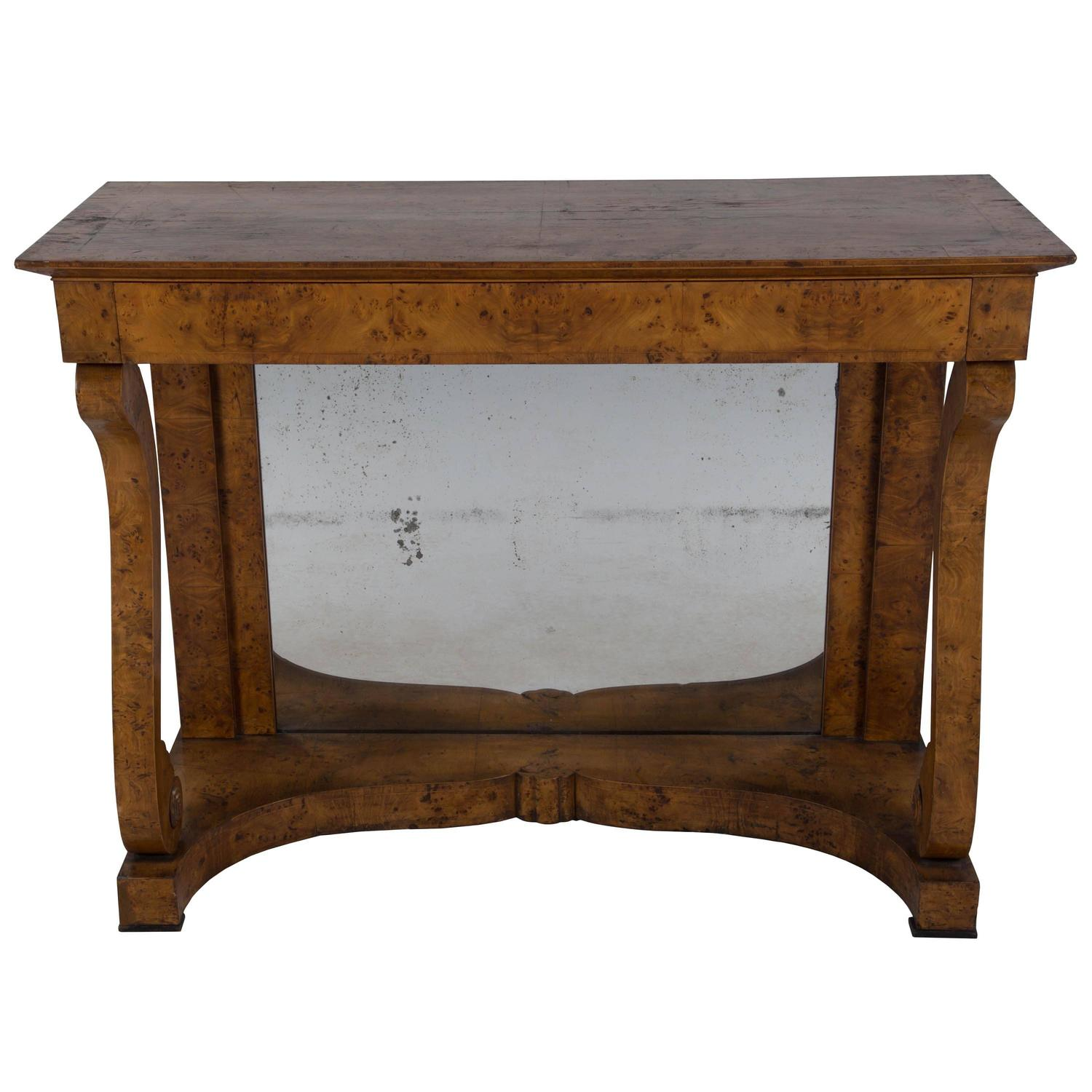 Mid 19th century yew wood console at 1stdibs for Yew sofa table