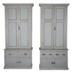 Pair of 20th Century Small Estate Cupboards