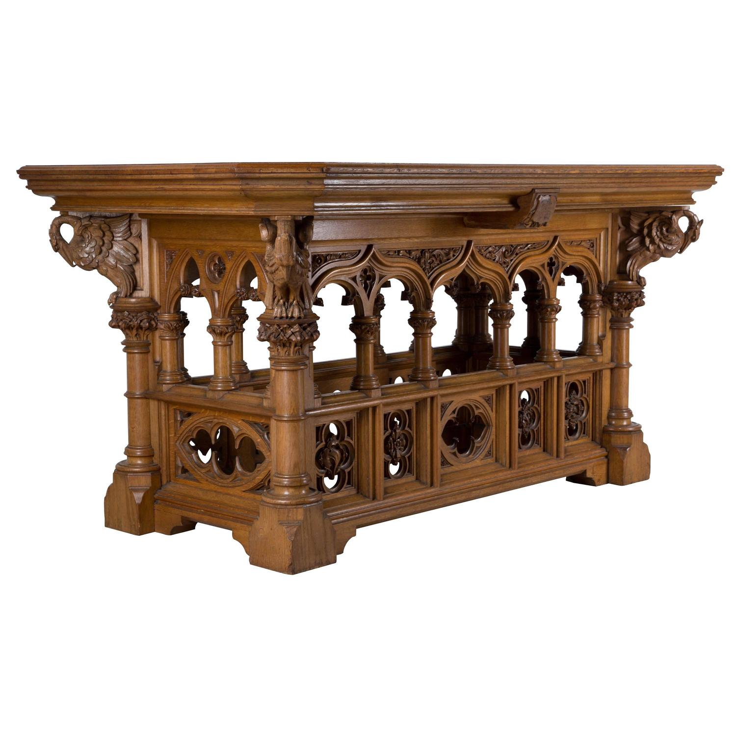 Gothic Revival Alter Table For Sale At 1stdibs