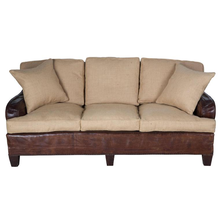 Leather Sofas Gloucestershire: Reupholstered Three-Seat Leather Sofa At 1stdibs