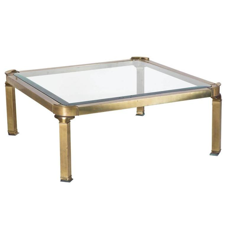 Gilt Bronze And Glass Coffee Table For Sale At 1stdibs