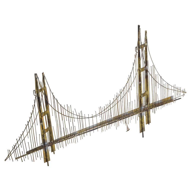 golden gate bridge sculpture for sale at 1stdibs. Black Bedroom Furniture Sets. Home Design Ideas