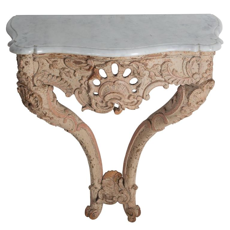 Marble Topped Console Table In Good Condition For Sale In Gloucestershire, GB