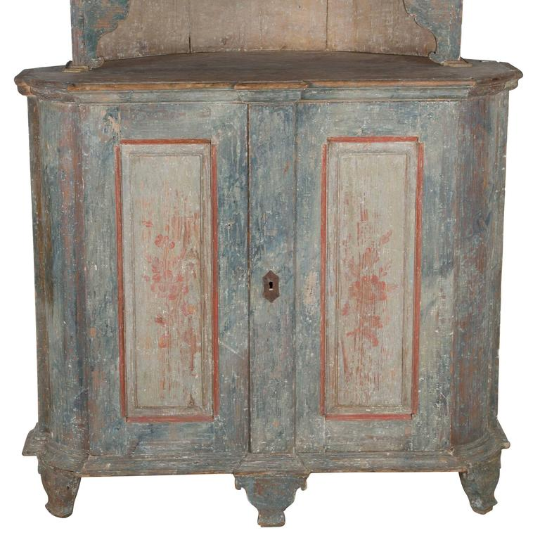Swedish Corner Cupboard For Sale 1