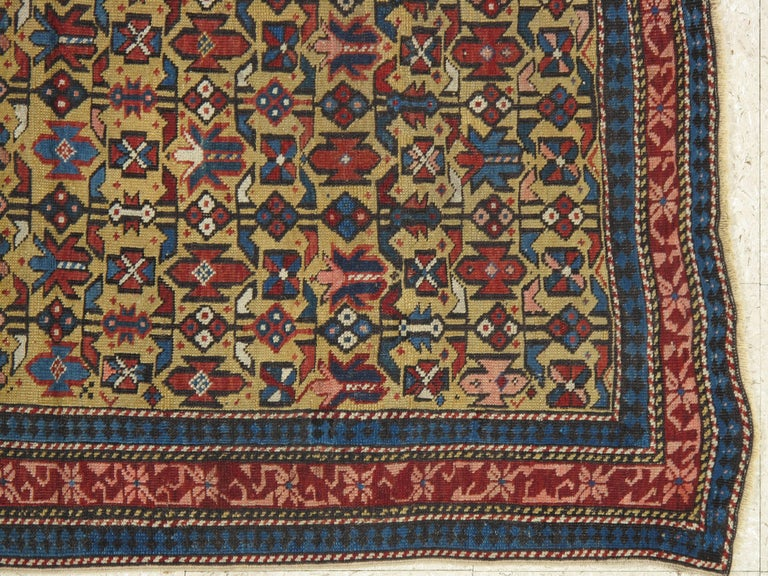 Antique Shirvan Rug, circa 1880 Hand Knotted, Wool Oriental Rug For Sale 2
