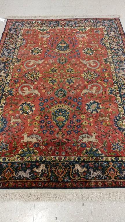 Silk Turkish Rug Handmade Oriental